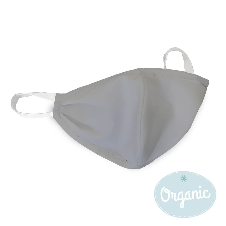 Medibino 3er Set Mund- und Nasenmaske für Erwachsene Biobaumwolle (Organic) - Basic Grau