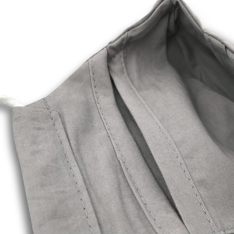 3er Set Medibino Mund- und Nasenmaske aus Biobaumwolle Ocean Safe C2C Certified™ Gold Fabrics (C2C) - stone grey