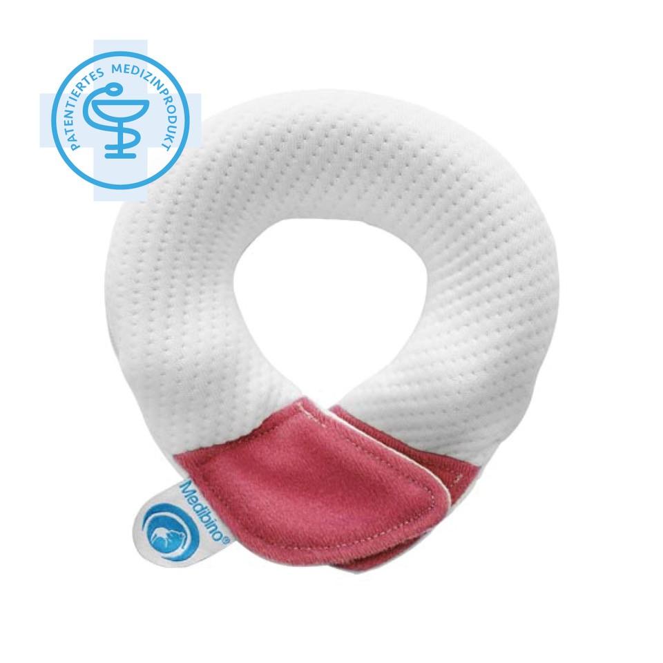 Babykissen rosa - Medibino Babykopfschutz I  Material: Tencel