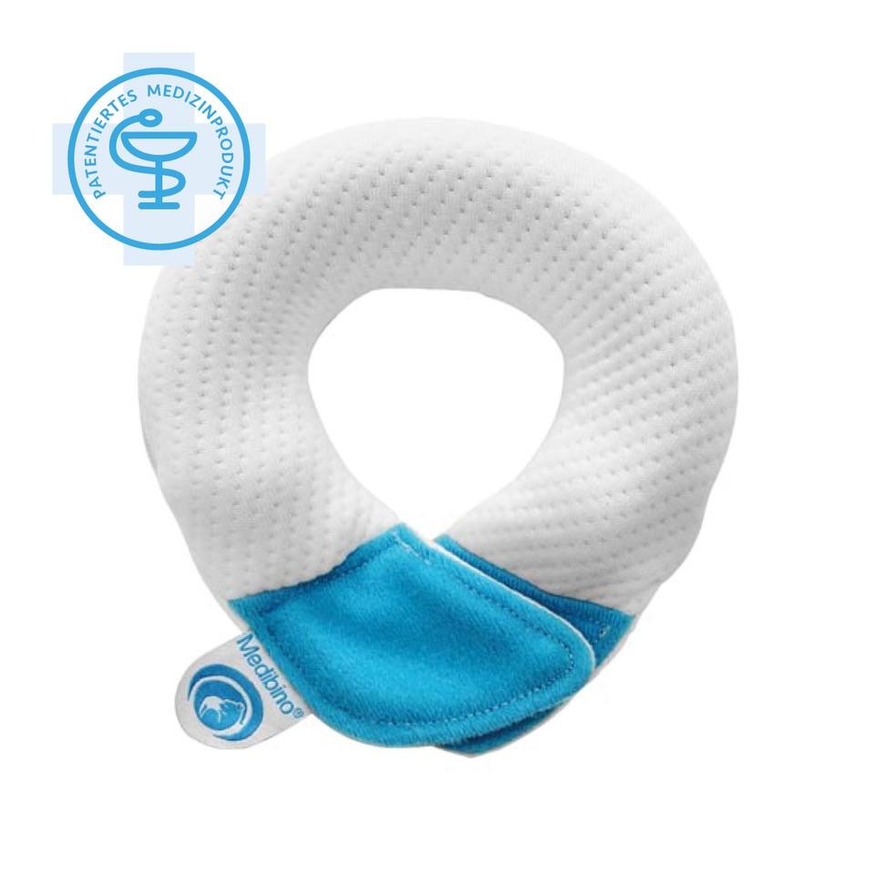 Babykissen blau - Medibino Babykopfschutz I  Material: Tencel