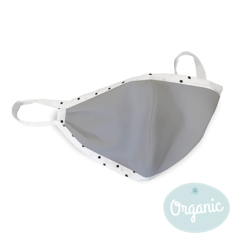 Medibino Mund- und Nasenmaske Erwachsener Biobaumwolle (Organic) - grau