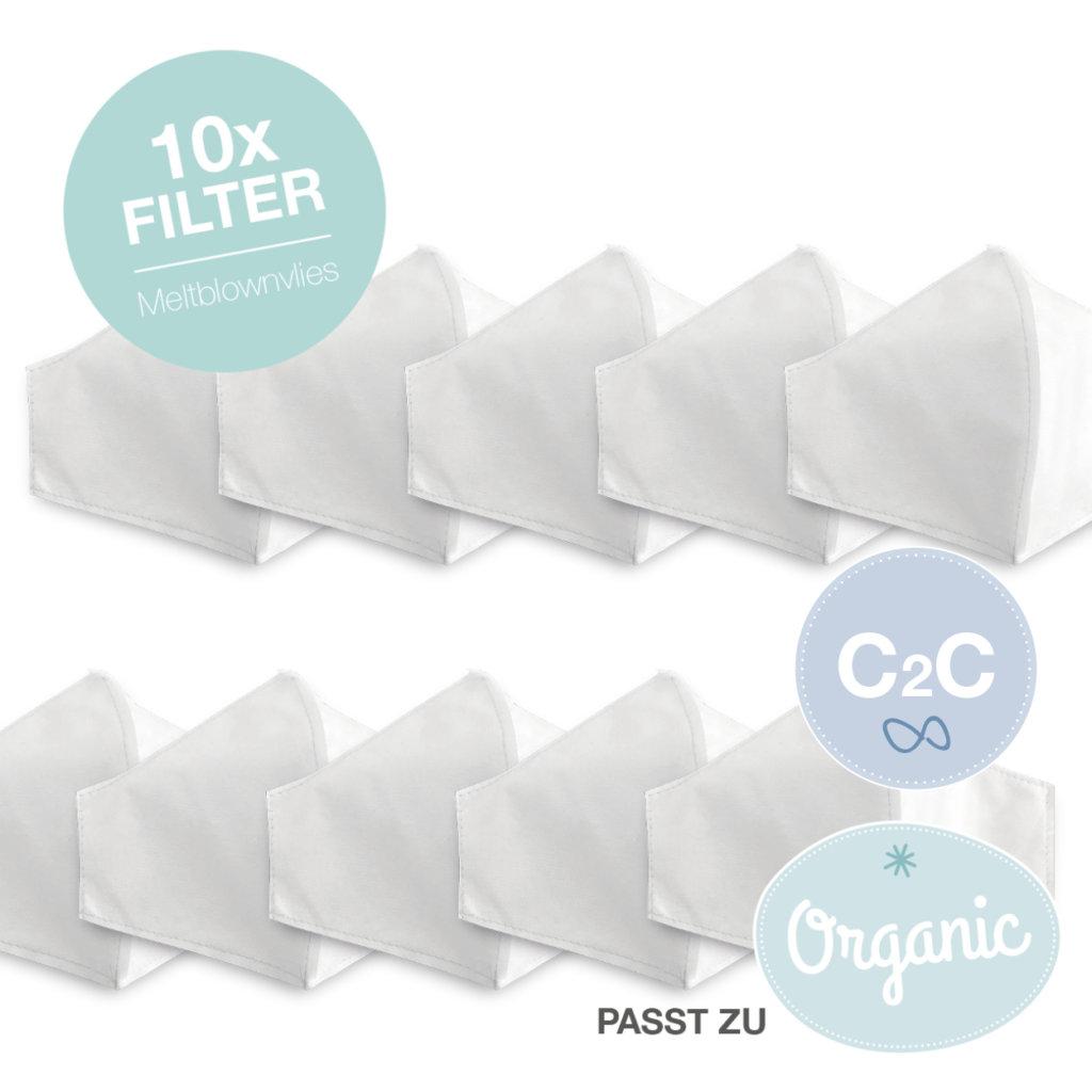 10 Stk. Meltblown-Filter für Organic- und Cradle-to-Cradle Maske - Erwachsener