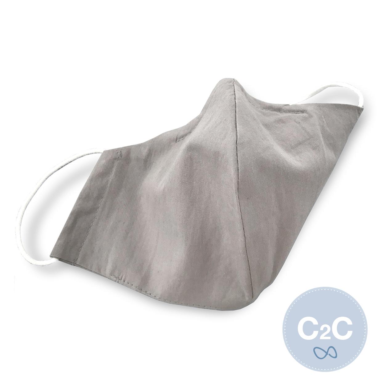Medibino Mund- und Nasenmaske aus Biobaumwolle Ocean Safe C2C Certified™ Gold Fabrics (C2C) - stone grey